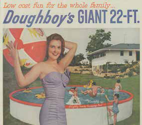 Doughboy pool picture from the 1950s